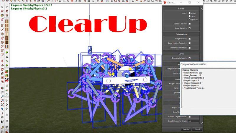 cómo instalar clearUp sketchup