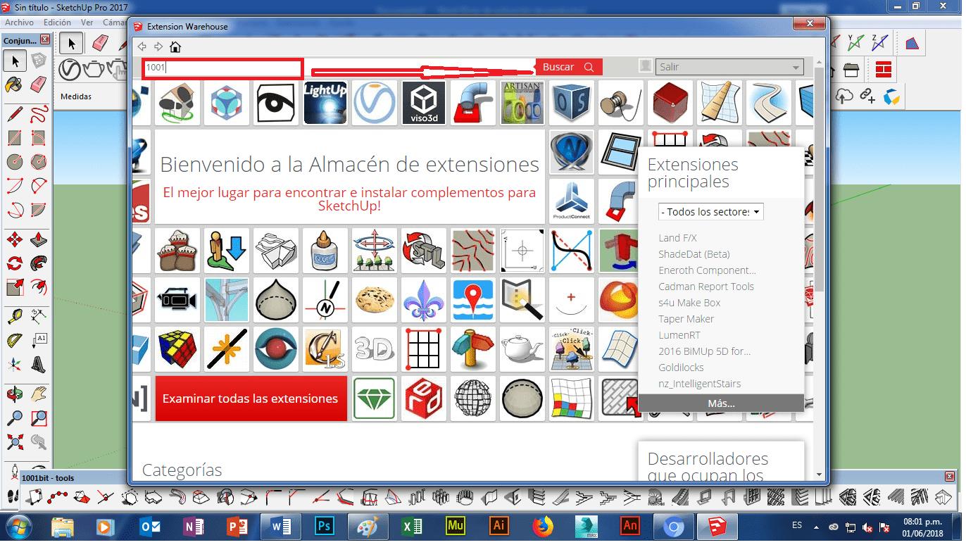 ▷ Cómo instalar plugin 1001 bit tools gratis en SketchUP