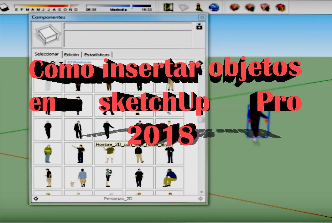 Como importar objetos a sketchUp 2018 en pc windows y mac
