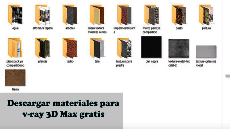 librería de materiales v-ray para 3d max
