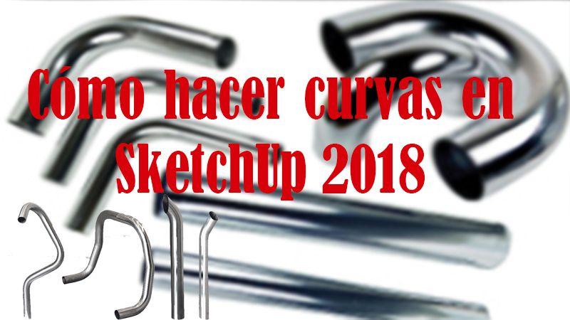 cómo hacer codo en sketchup
