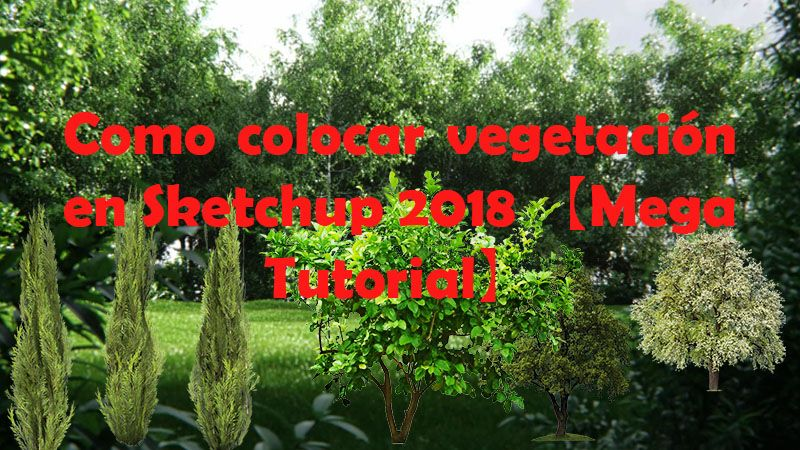 agregar poner importar Insertar arboles a sketchUp vegetacion