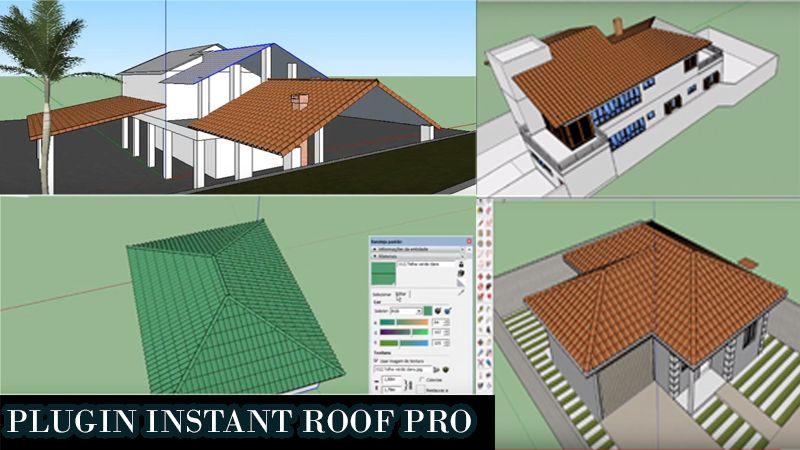 como crear, hacer techos de dos aguas en sketchup