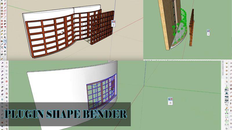 plugin shape bender para sketchup
